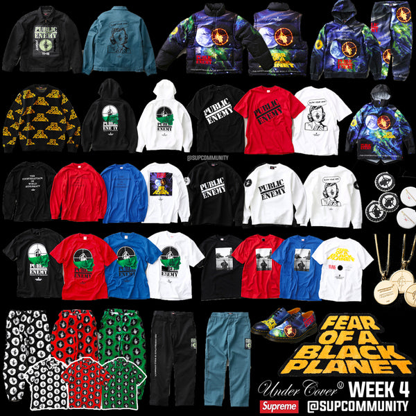 Supreme Week 4 Droplist - Undercover x Public Enemy x Supreme