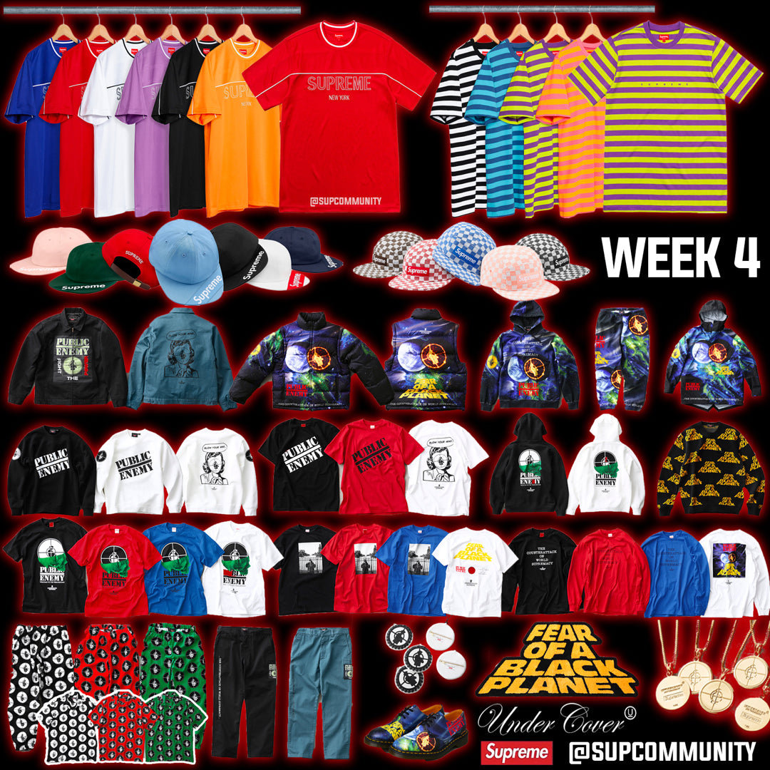 Supreme Setup Guide & Keywords Week 4 SS18 (Public Enemy x Undercover)