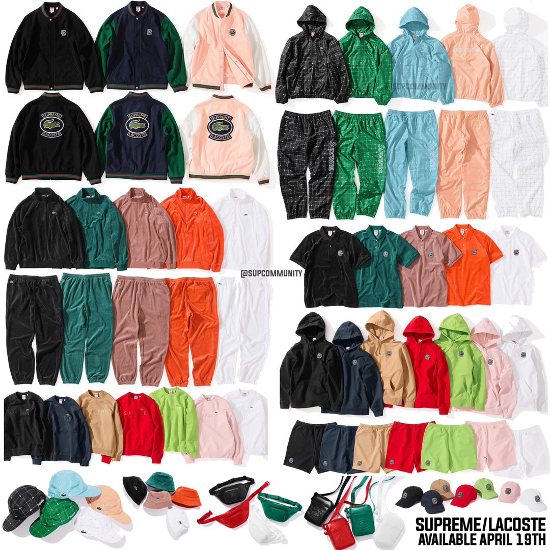 df523899fe4 Supreme Week 9 Retail Prices and Droplist (SS18) - LaCoste