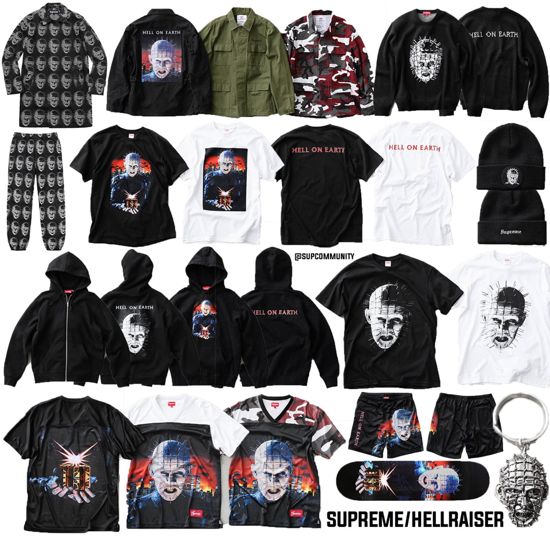 Supreme Week 10 Retail Prices and Droplist (SS18) - Hellraiser