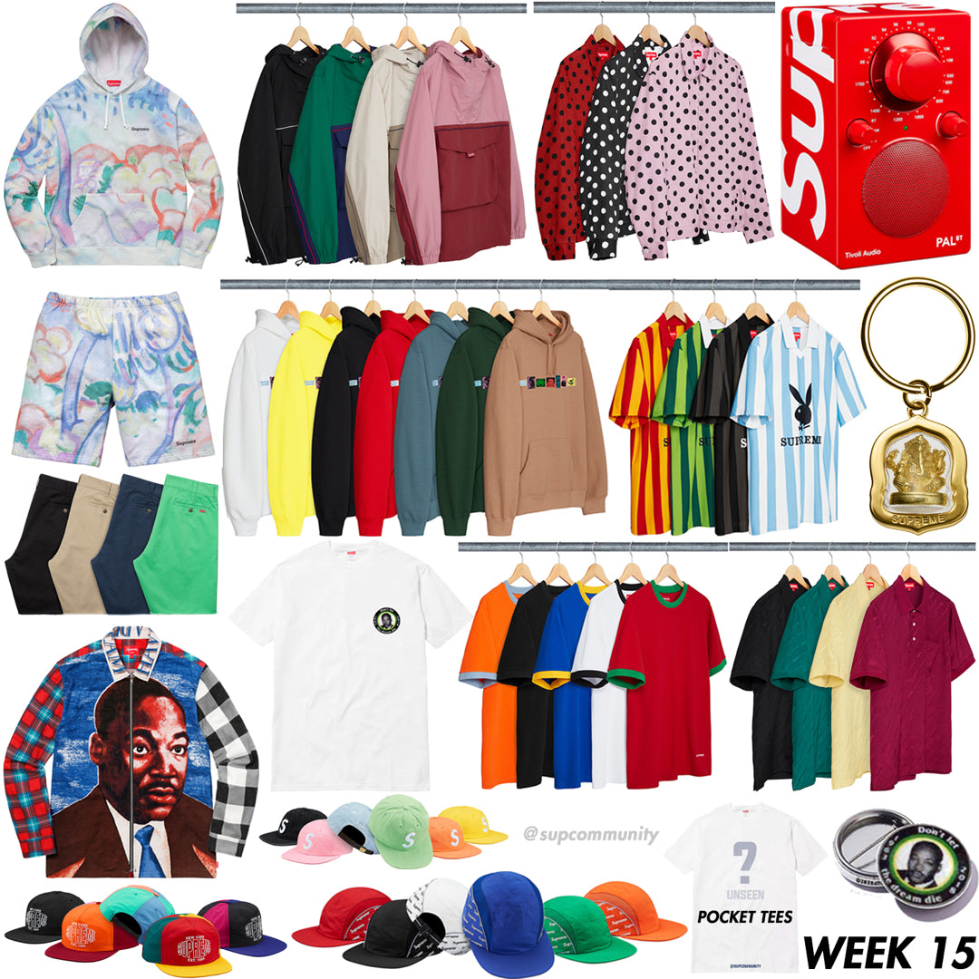 Supreme Week 15 Retail Prices and Droplist (SS18)