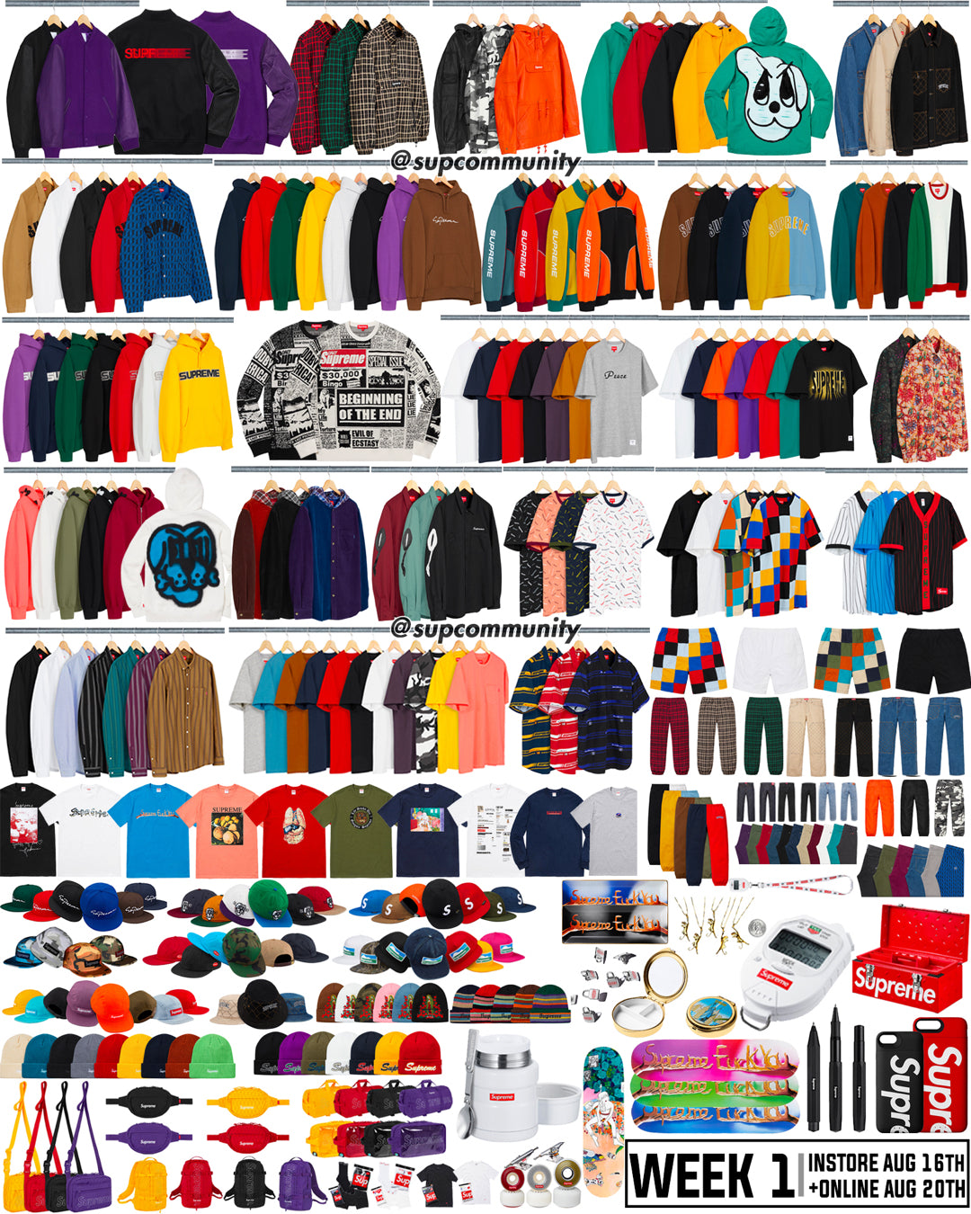 7131a720c14 Supreme Week 1 Retail Prices and Droplist (FW18)