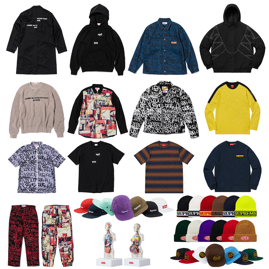 Supreme Setup Guide & Keywords Week 4 FW18 - CDG Box Logos