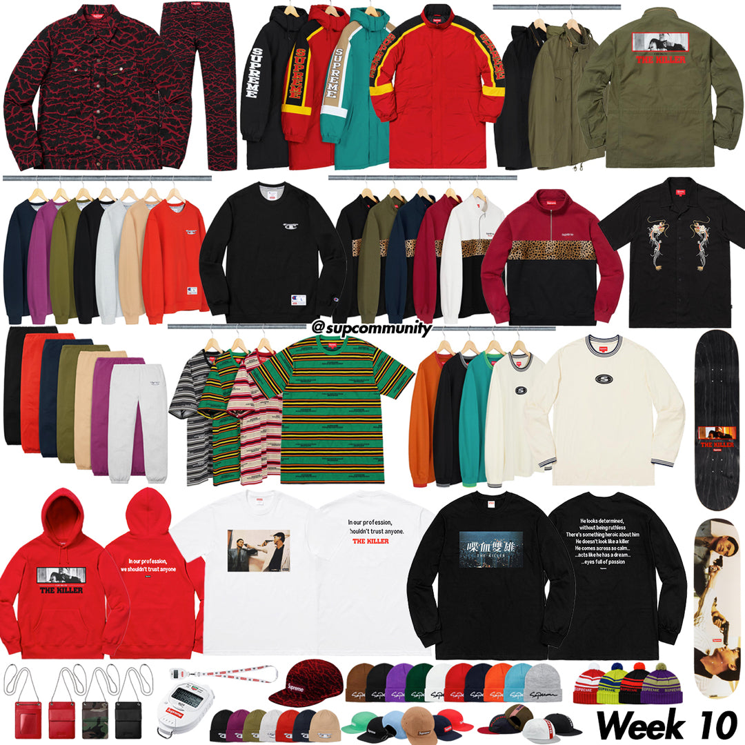 Supreme Week 10 Retail Prices and Droplist - The Killer