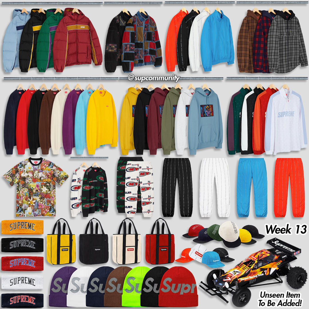 Supreme Week 13 Retail Prices and Droplist