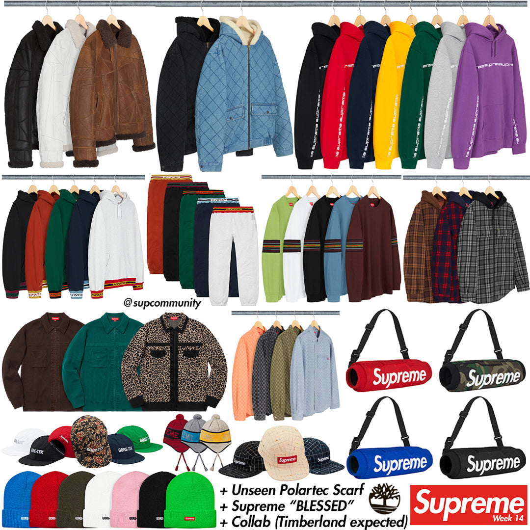 Supreme Week 14 Retail Prices and Droplist