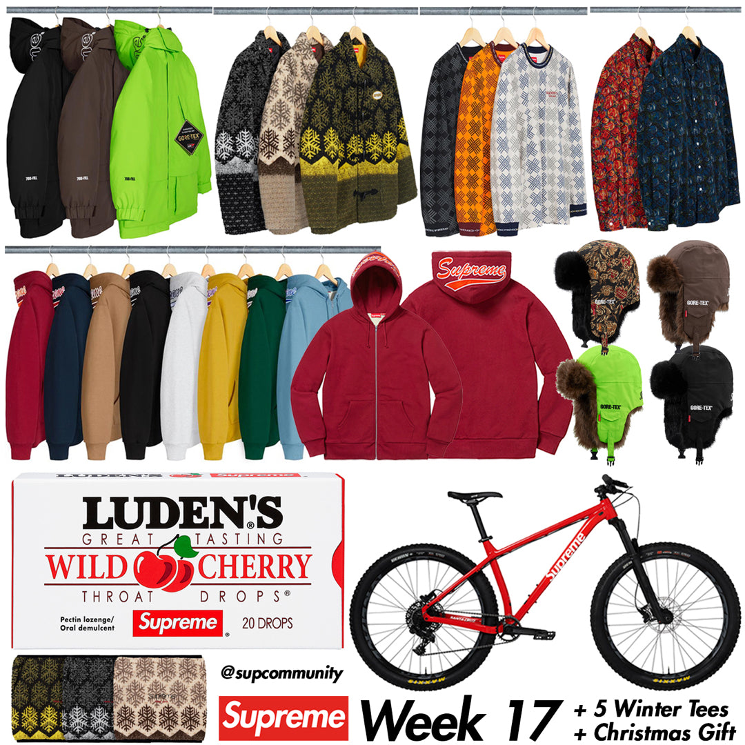 Supreme Week 17 Retail Prices and Droplist