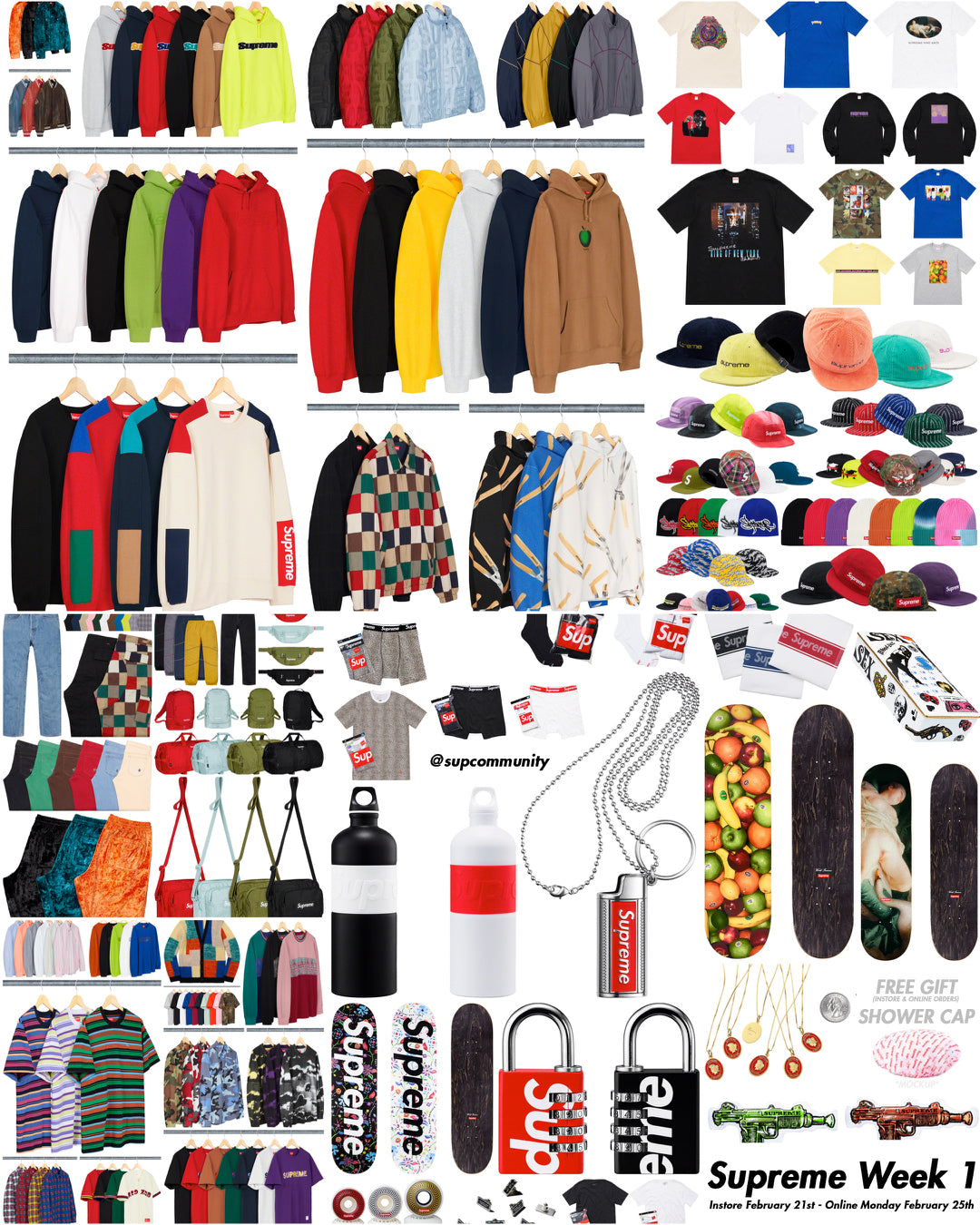 337187f4150 Supreme Week 1 Retail Prices and Droplist (SS19)