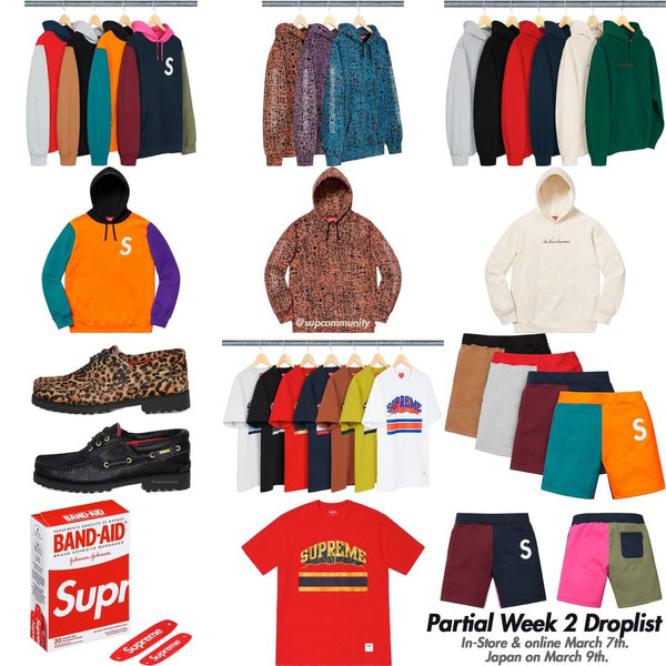 Supreme Week 2 Retail Prices and Droplist (SS19) 744fc9eb839