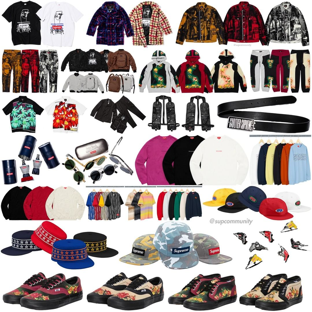 Supreme Week 7 Retail Prices and Droplist (SS19)