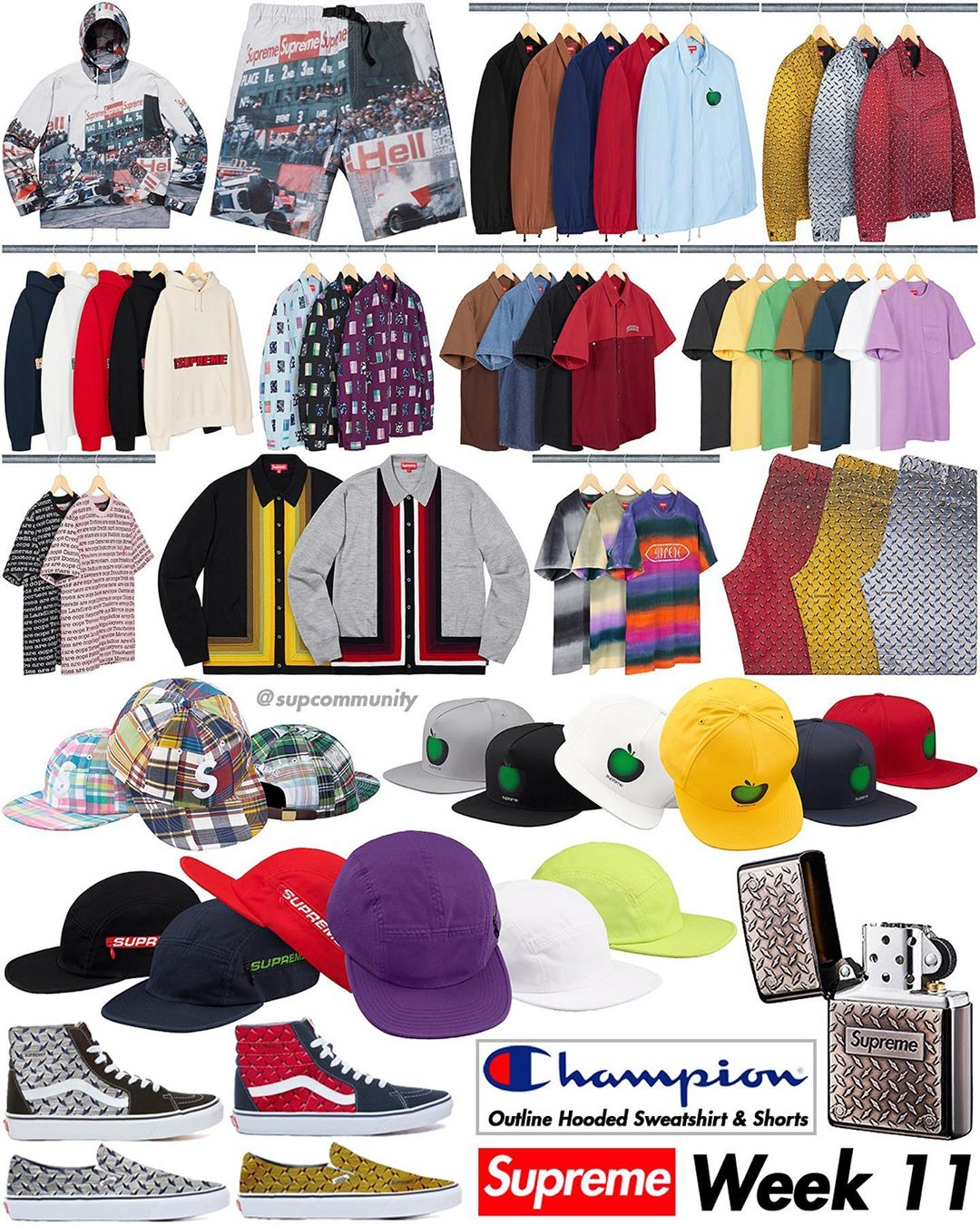 Supreme Week 11 Retail Prices and Droplist (SS19)