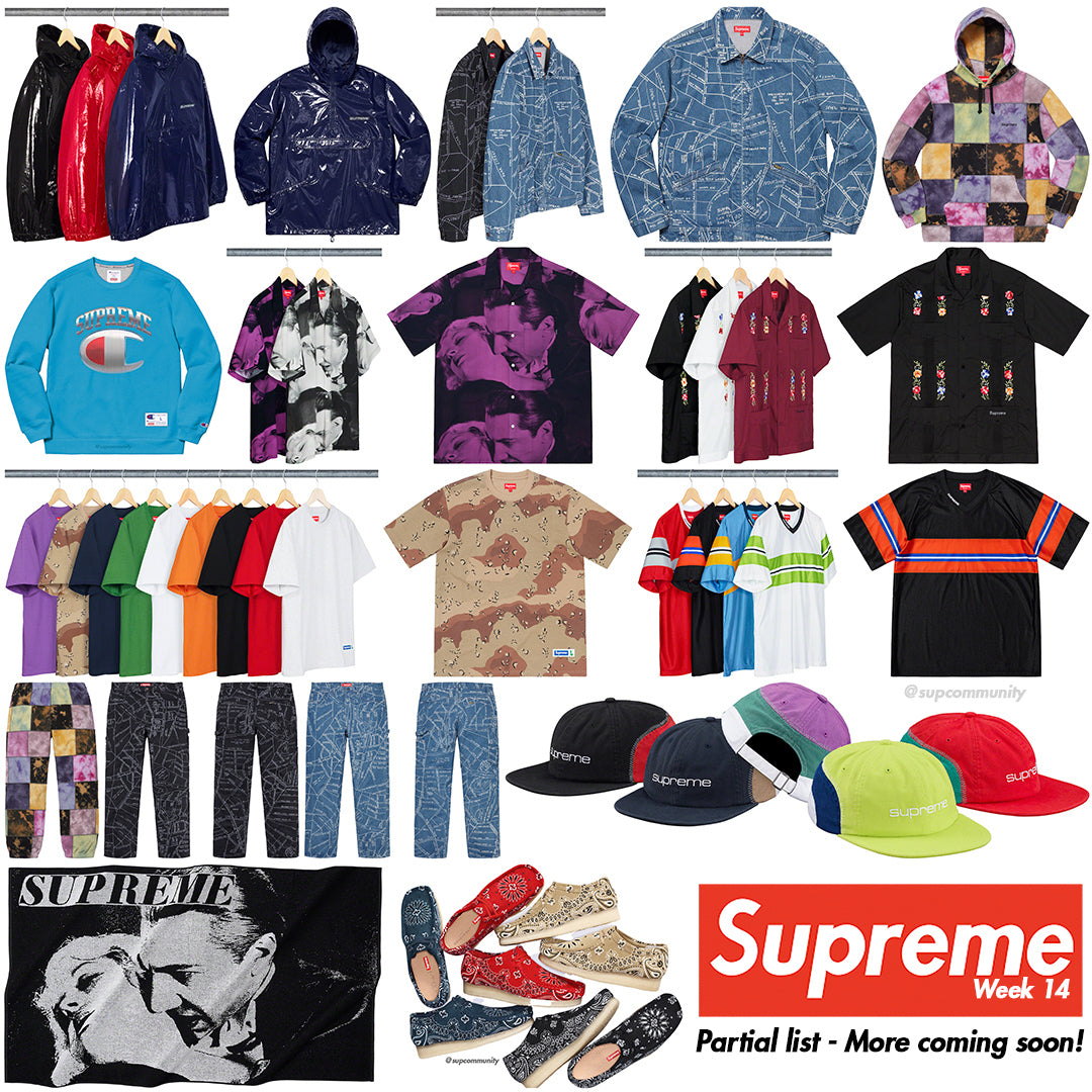 Supreme Week 14 Retail Prices and Droplist (SS19)