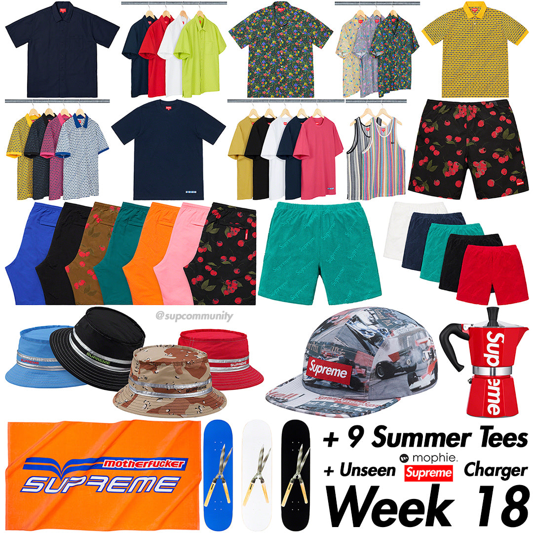 Supreme Week 18 Retail Prices and Droplist (SS19)