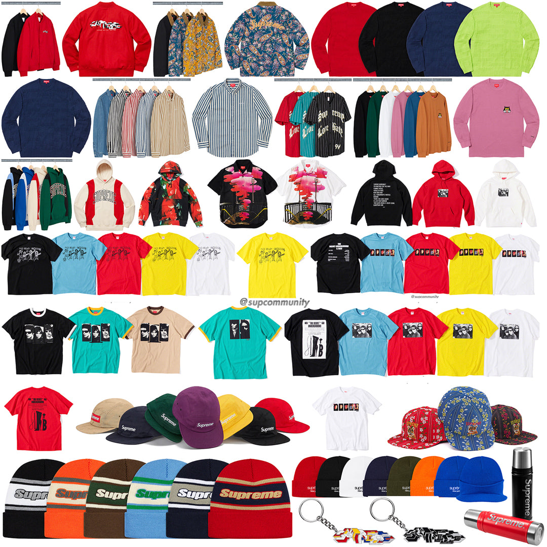 Supreme Week 4 Retail Prices and Droplist (FW19)
