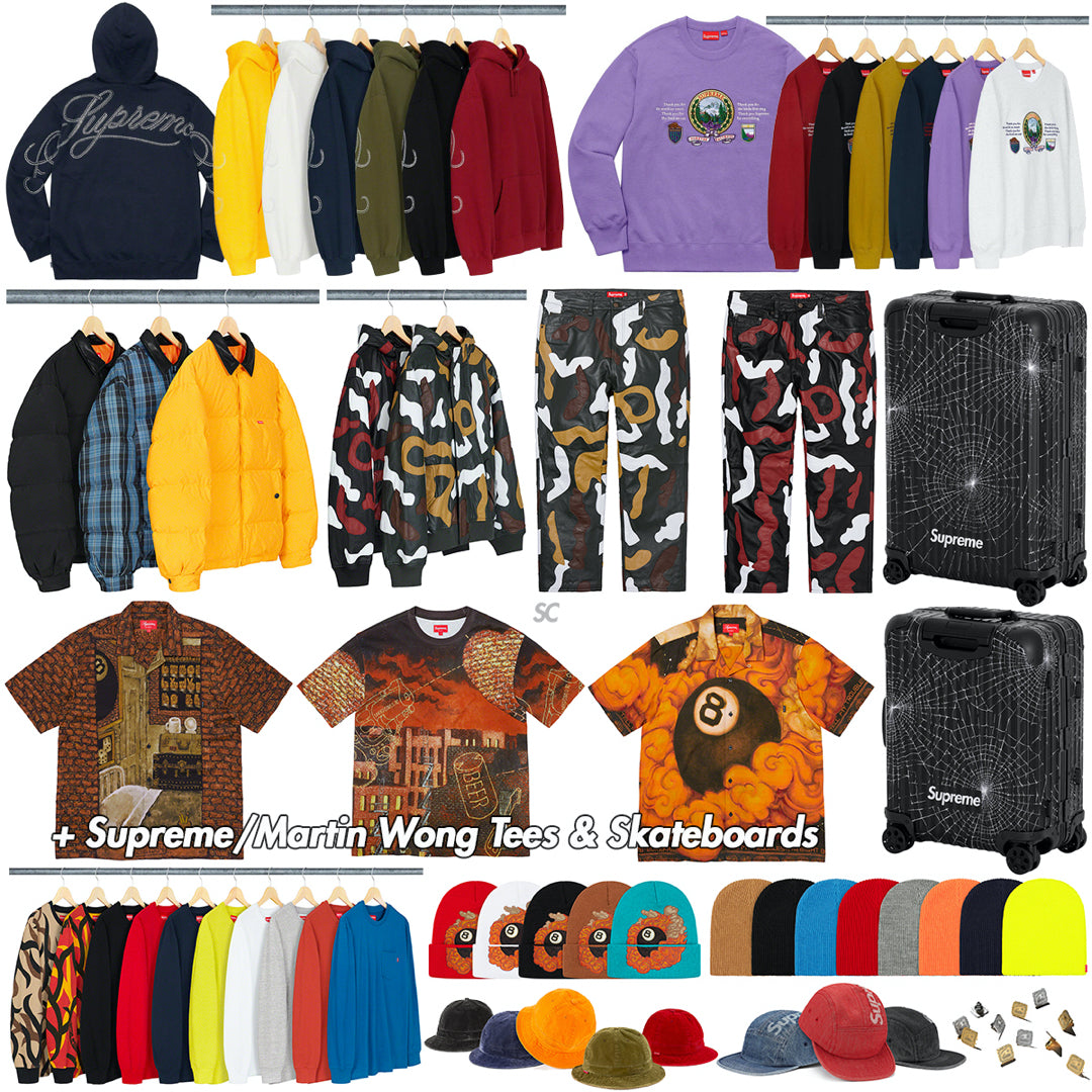 Supreme Week 12 Retail Prices and Droplist (FW19)