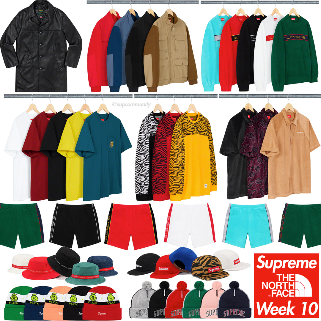Supreme Week 10 Retail Prices And Droplist Tnf Fw19 Forcecop
