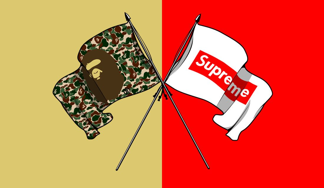 Supreme And Bape Are Rumored To Collaborate This Year