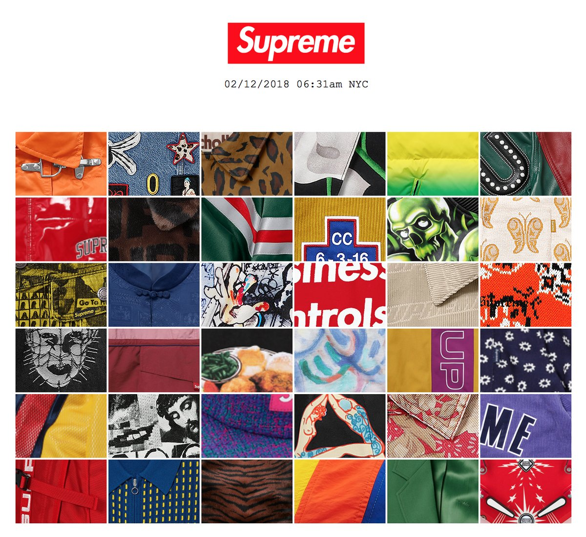 Supreme 2018 Spring / Summer LookBook And General Retail Prices