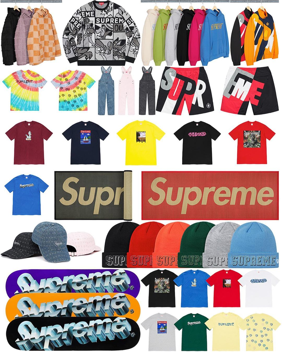 Supreme Week 8 Retail Prices and Droplist (SS20)