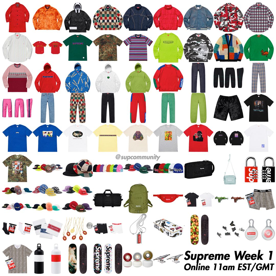 Supreme Setup Guide & Keywords Week 1 SS19