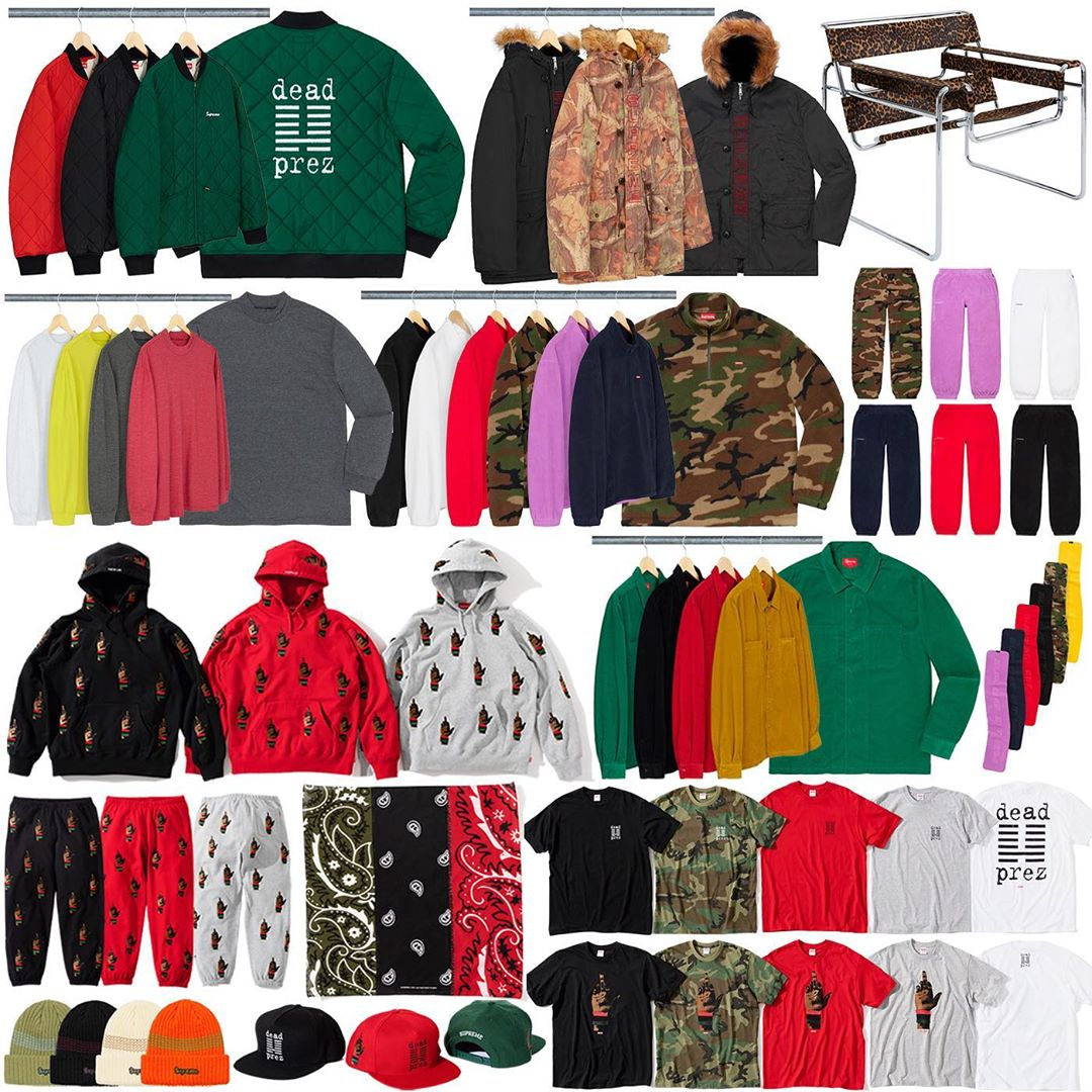 Supreme Week 15 Retail Prices and Droplist (FW19)