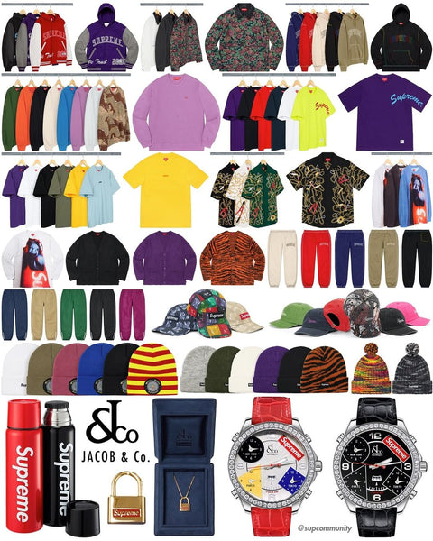 Supreme Week 9 Retail Prices and Droplist (FW20)