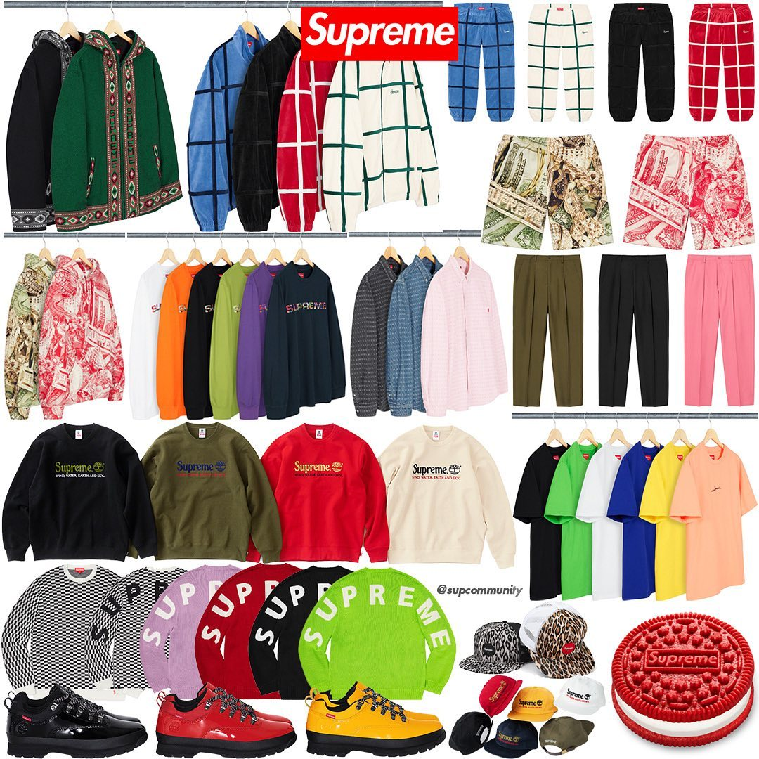 Supreme Week 5 Retail Prices and Droplist (SS20)