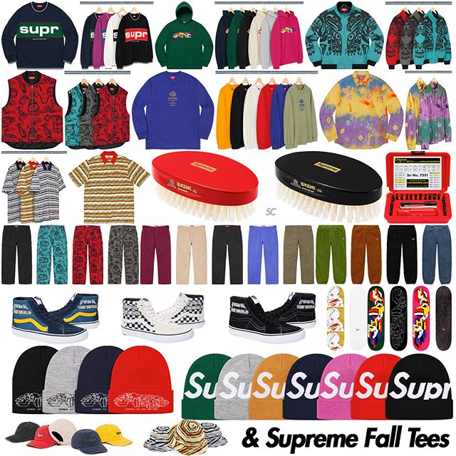 Supreme Week 7 Retail Prices and Droplist (FW19)