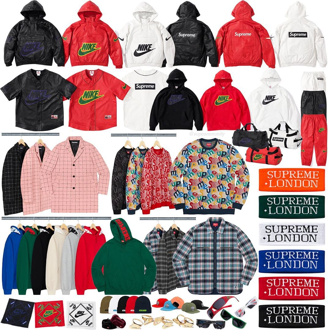 Supreme Week 14 Retail Prices and Droplist (FW19)