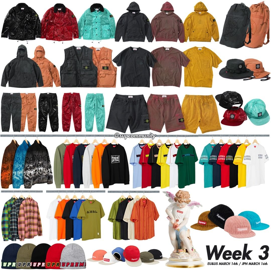 Supreme Week 3 Retail Prices and Droplist (SS19) Stone Island