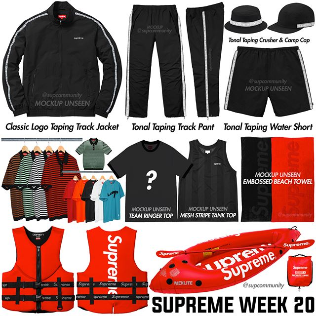 Supreme Week 20 Retail Prices and Droplist (SS18)