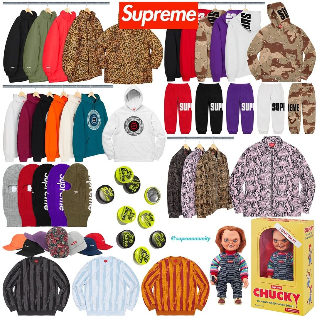 Supreme Week 17 Retail Prices and Droplist (FW20)
