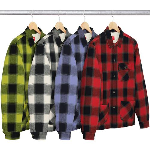 Buffalo Plaid Sherpa Lined Chore Shirt