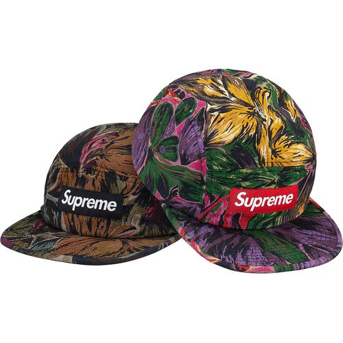 Painted Floral Camp Cap