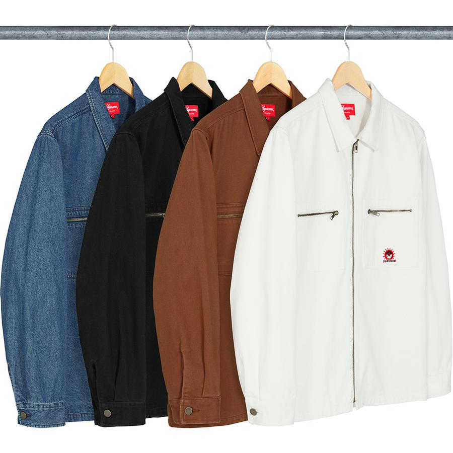 Supreme Vampire Denim Zip Up Shirt