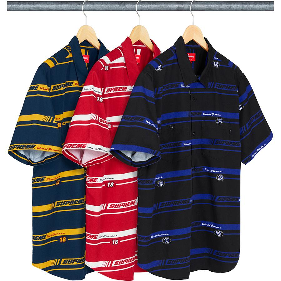 Supreme Striped Racing Work Shirt
