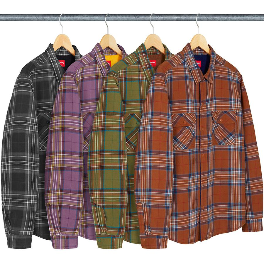 Supreme Pile Lined Plaid Flannel Shirt
