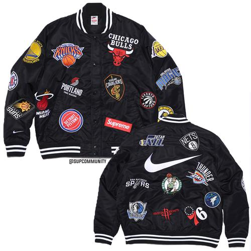 Supreme/Nike/NBA Warm-Up Jacket (Black)
