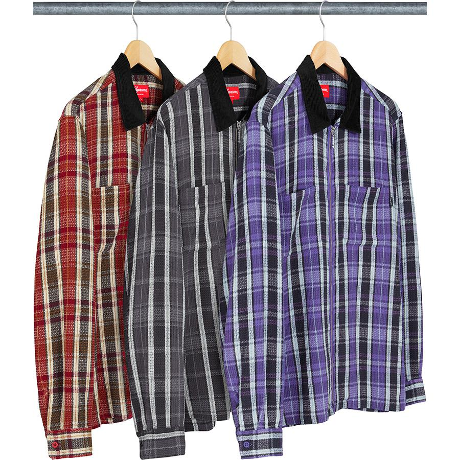 Plaid Thermal Zip Up Shirt