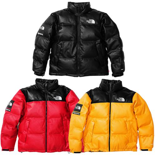 The North Face® Leather Nuptse Jacket