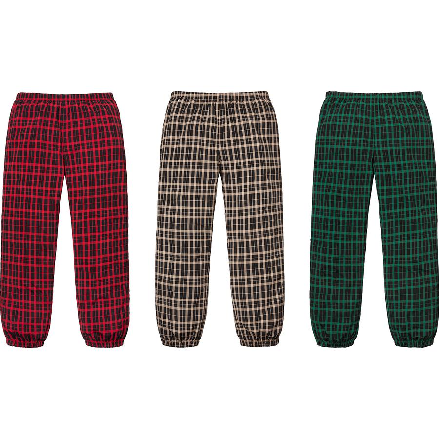 Supreme Nylon Plaid Track Pant
