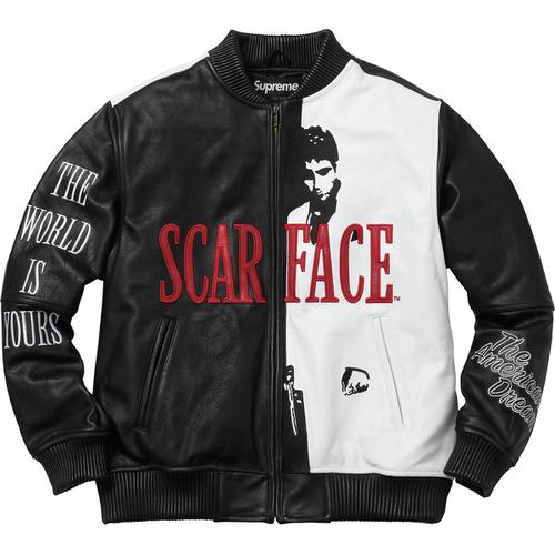 Supreme x Scarface™ Embroidered Leather Jacket