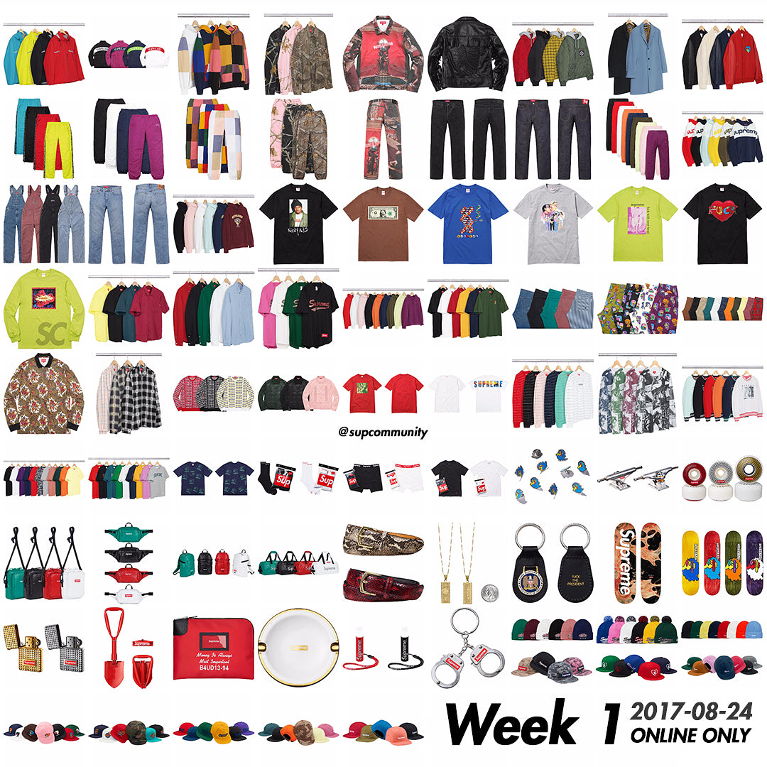 Supreme Week 1 Fall/Winter 2017 Full Drop List