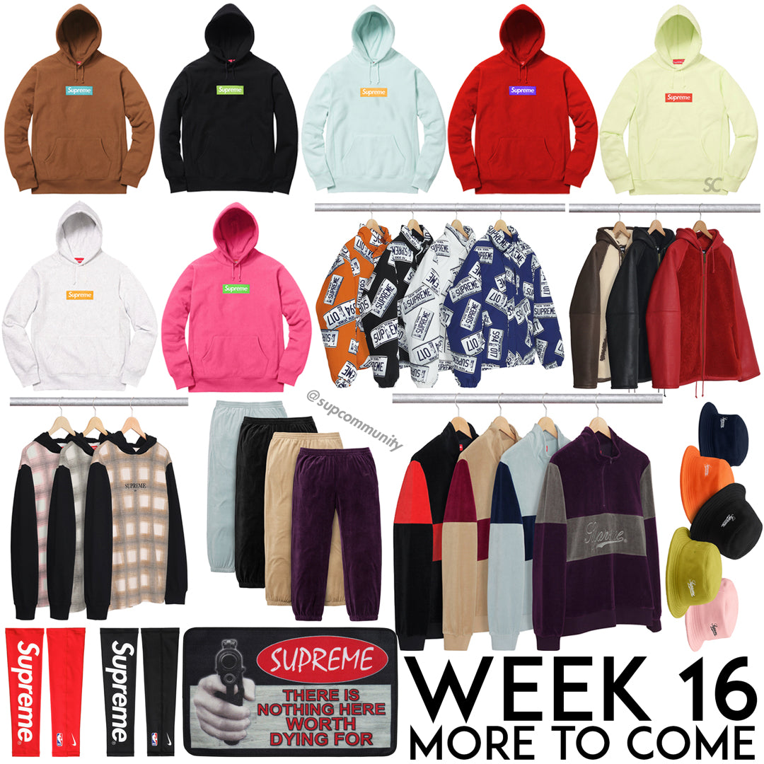 Box Logo Supreme Hoodies Week 16