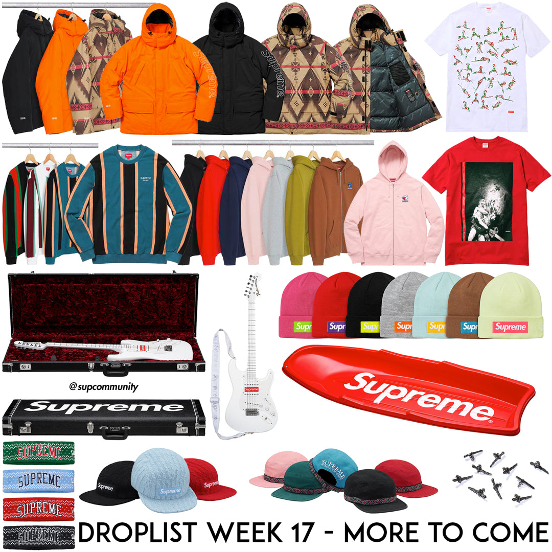 Supreme Week 17 Droplist
