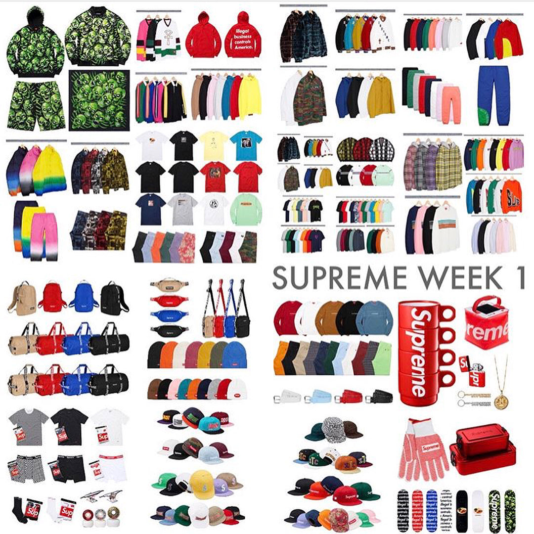 Supreme Spring / Summer 2018 (SS18) Week One