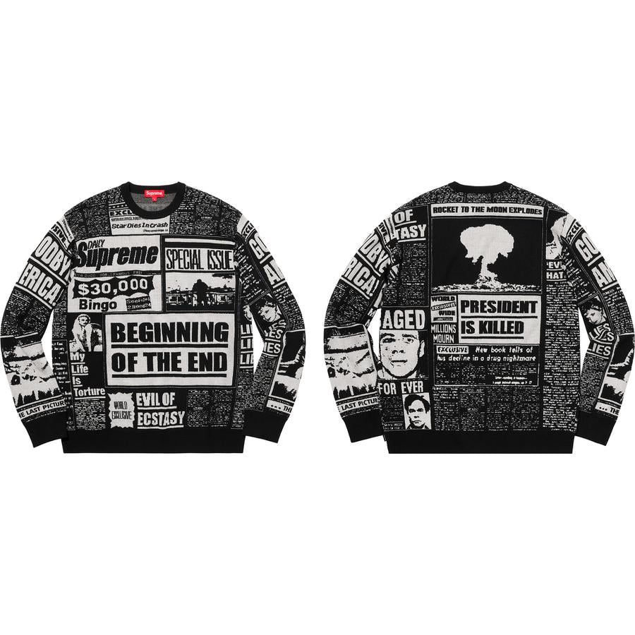Supreme Newsprint Sweater