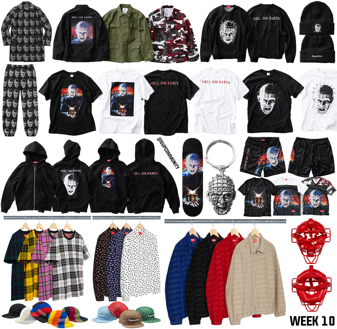 Supreme Week 10 SS18 HellRaiser Full Droplist