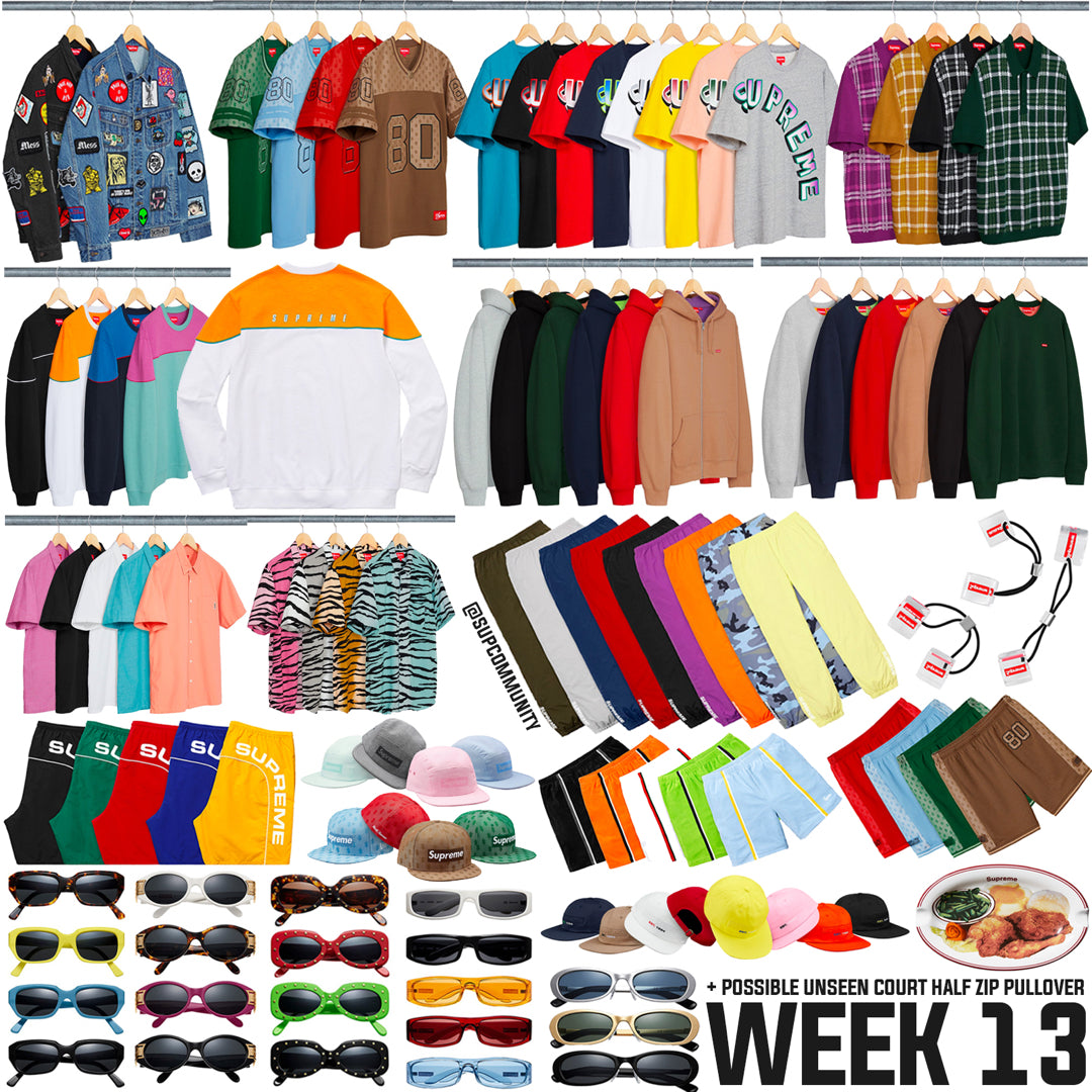 Supreme Full Droplist Week 13 SS18