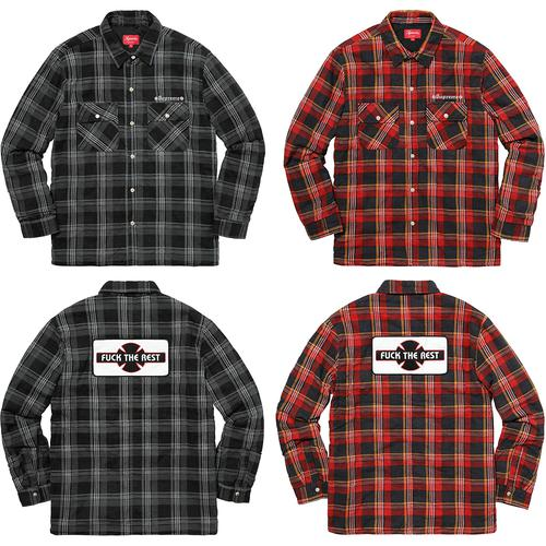 Supreme®/Independent® Quilted Flannel Shirt